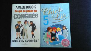 livres (romans) de l'auteure québécoise Amélie Dubois