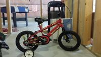 "Boy bike for sale 14"" Red and Black"