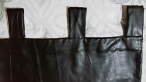 2 Black Faux Leather Curtains