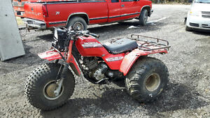 1989 honda fourtrax with plow 1985 honda big red TRADES?