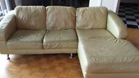 Philip Van Leewen - Leather sectional sofa