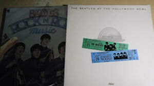 vinyles vintages des beatles.
