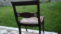 6 dining room chairs....Duncan Fife