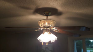 Large Ceiling Fan. 3 stages of lighting