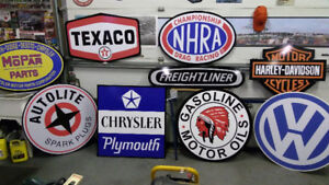 LARGE FORD CHEVROLET AND CHRYSLER SERVICE SIGNS