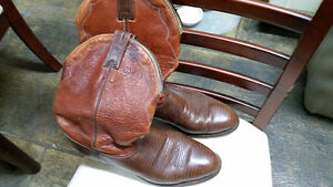 Boulet leather cowboy boots size 9, brown
