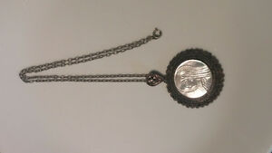 Antique 950 sterling Jerusalem.necklace with Mother of Pearl