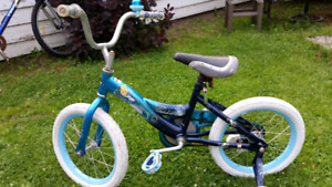 Young girls bicycle