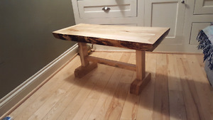 Solid Maple Coffee Tables With Live Edge