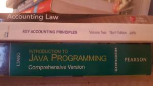 JAVA & Accounting Law/Principles TEXTBOOKS