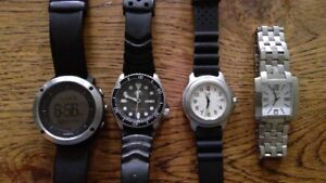 Watch lot, Tissot, Seiko, Suunto, Swiss Army,