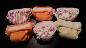 6 EUC Thirsties All-in-One Cloth Diapers