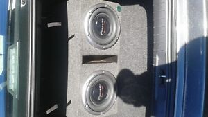 2 10 inch pioneer champion pro subs.in box