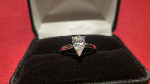 Lady's White Gold Diamond Solitaire Ring