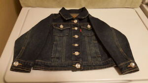 Toddler's Girl's Levi Jacket - Size 2 - Like New Condition