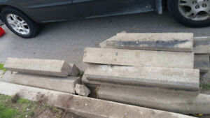driveway curbs - solid concrete - $10