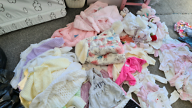 Job lot of baby girl clothing from newborn to 3 months