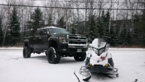 Lifted Duramax Deleted and Tuned LTZ Western Truck.