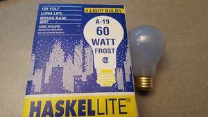 4 ampoules 60w 130v a19 culot moyen e26 couleur bleu