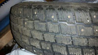 4 Good Condition Studded Cooper Weathermaster Tires 235/75R1