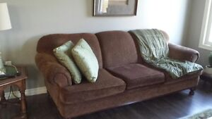 BROWN FABRIC SOFA