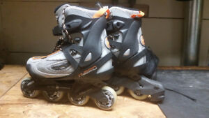 Roller Blades (size 9.5) with Elbow, Knee & Wrist Pads