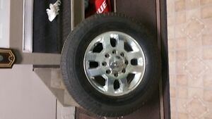 """Brand New 8 Bolt Factory Chev 18"""" Aluminum Wheels and Tires"""