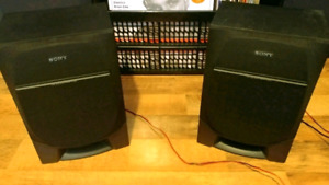 SONY STEREO SHELF SPEAKERS