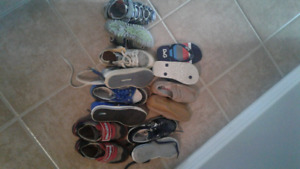 Boys size 13 lot of shoes