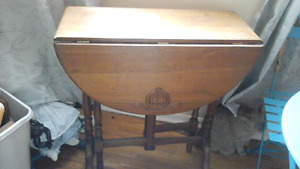 Older Small fold down sided table