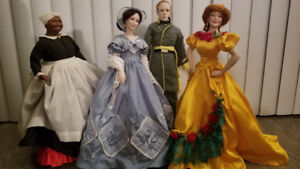 Gone with the wind (Scarlett) doll set by Franklin Mint