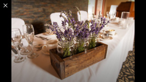 Wedding Decor - Rustic Wooden Centrepiece Boxes