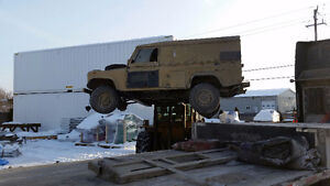 1991 Land Rover Defender 110 Pickup Truck with full top