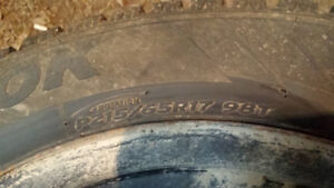 Hanook winter tires and rims P215 65R17