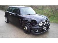 2010 Mini Mini 1.6 First DAMAGED SPARES OR REPAIR SALVAGE