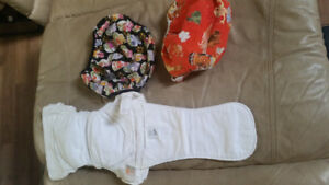 Geny cloth diaper covers and 1 coshies cloth diaper
