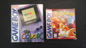 Gameboy colour, gba and pokemon red