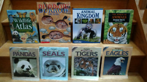 13 Wild Animals information books & a deck of Ecology game cards