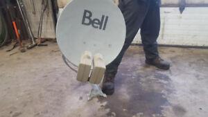 BELL SATELLITE DISH dual lnb