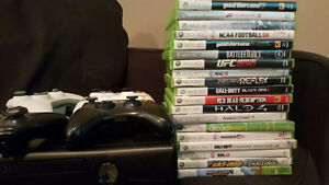 For sale X BOX 360 with Games