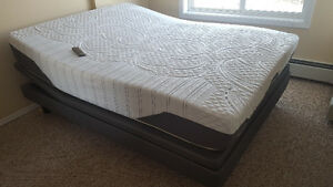 Mattress with Remote Controlled Adjustable Bed Frame