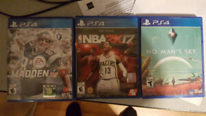 PS4 Video Games - $20.00 each or 3 for $50.