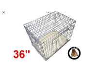 """36"""" silver dog cage"""