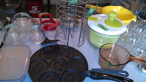 KITCHEN ITEMS SOME NEW from $1 and up.