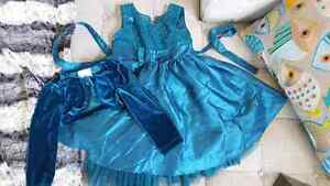 Girl's Emerald Green Dress with Matching Sweater- Size 5 Peterborough Peterborough Area image 1