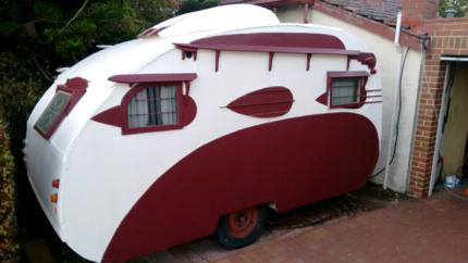 C1936 Restored Cloud Street Caravan Vintage