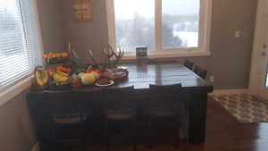 Soild wood stained Rustic table ...no chairs