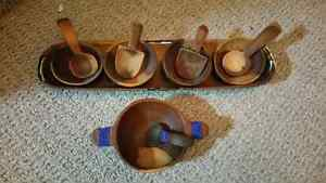 Wooden African serving dishes Kitchener / Waterloo Kitchener Area image 1
