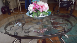 Living Room table set - Glass Coffee table and (2) lamp tables
