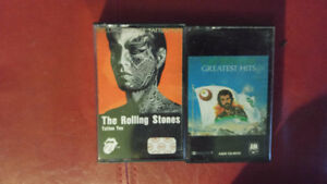 Cassettes audio The Rolling Stones et de Cat Stevens 5$ chaque